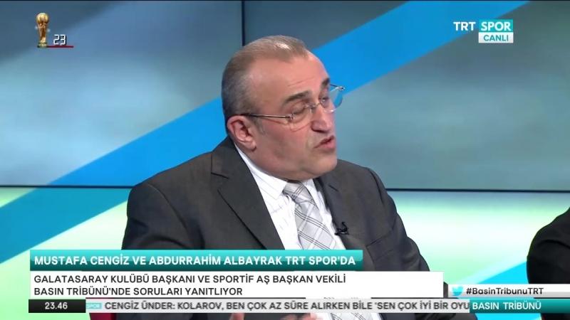 Mustafa Cengiz Abdurahim Albayrak Trt Spor- Basın tribunu part 2