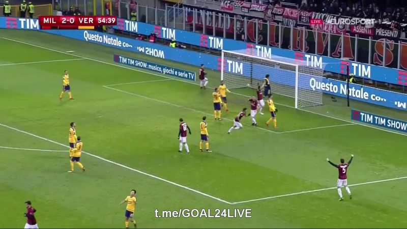 Милан 3:0 Верона | Гол Кутроне