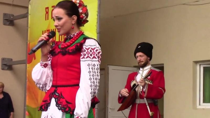 Московский казачий хор в Туле. Белоусовский парк. Эстрада