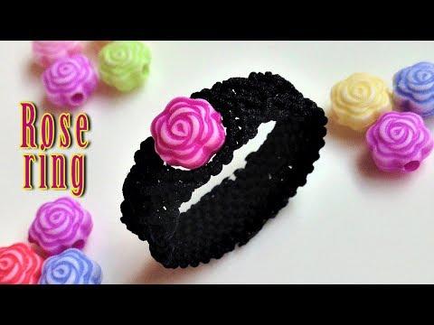 Macrame tutorial how to make a simple rose ring Hướng dẫn thắt nhẫn hoa hồng bằng dây nhỏ