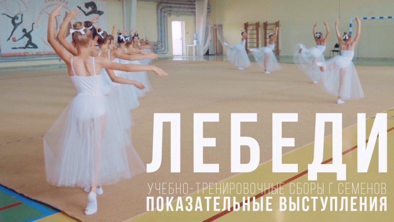 Лебеди Показательные выступление УТС по художественной гимнастике Семенов