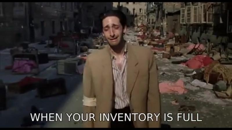 Когда инвентарь забит...