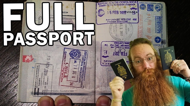 MY PASSPORT AFTER 2.5 YEARS AROUND THE WORLD - ALL STAMPS AND VISAS