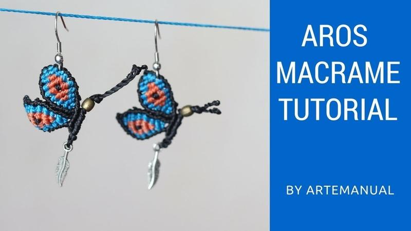 Aretes de Mariposa en Macrame 🦋   Macrame Tutorial   Paso a Paso