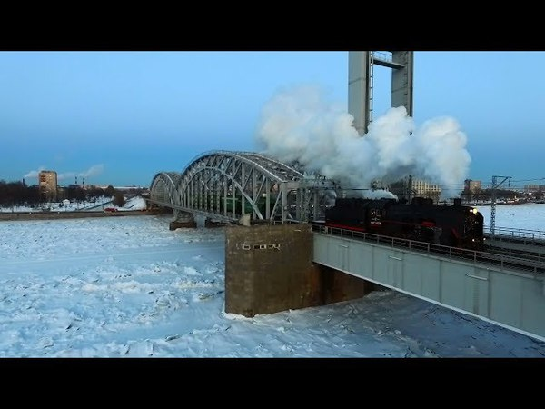 In the Air! Паровоз СО17-2359 (Санкт-Петербург) / SO17-2359 steam locomotive (RZD, St. Petersburg)