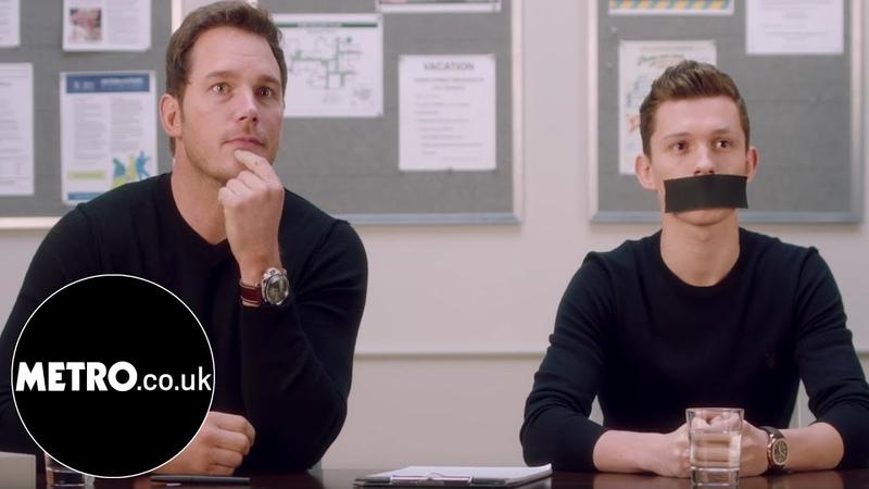 Avengers Infinity War stars gag Tom Holland to stop him giving spoilers   Metro.co.uk