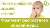 Почему ребенок ГРЫЗЕТ НОГТИ? | Фрагмент  БЕСПЛАТНОГО онлайн курса Екатерины Кес