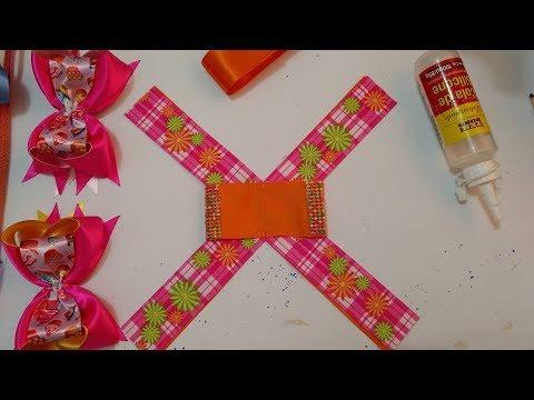 Maneira super fácil de fazer o Laço boutique com laço simples embutido na fita numero 9