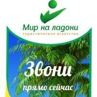 """Логотип Горящие туры из Волгограда """"Мир На Ладони"""""""