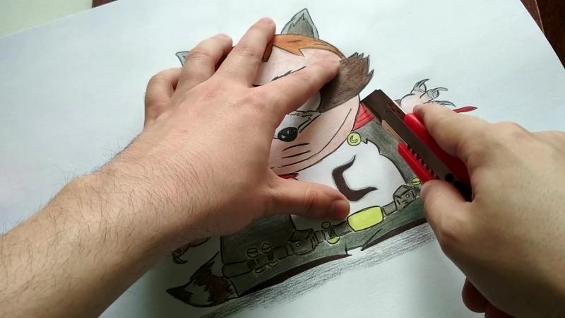 Рисуем Картмана Енота из South Park Phone Destroyer The Coon