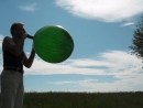 balloon blow to pop - custom made balloon (round about 32)