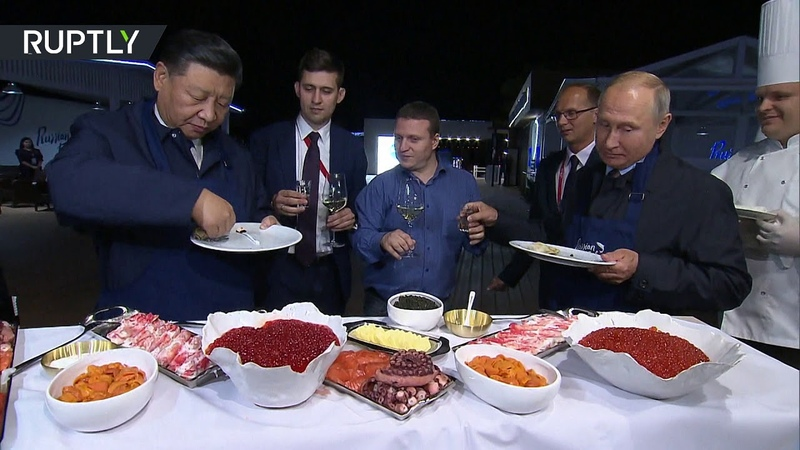 Pancakes, caviar vodka Putin and Xi get a taste of Russian cuisine