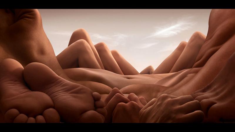 Карл Уорнер (Carl Warner): Телесные пейзажи