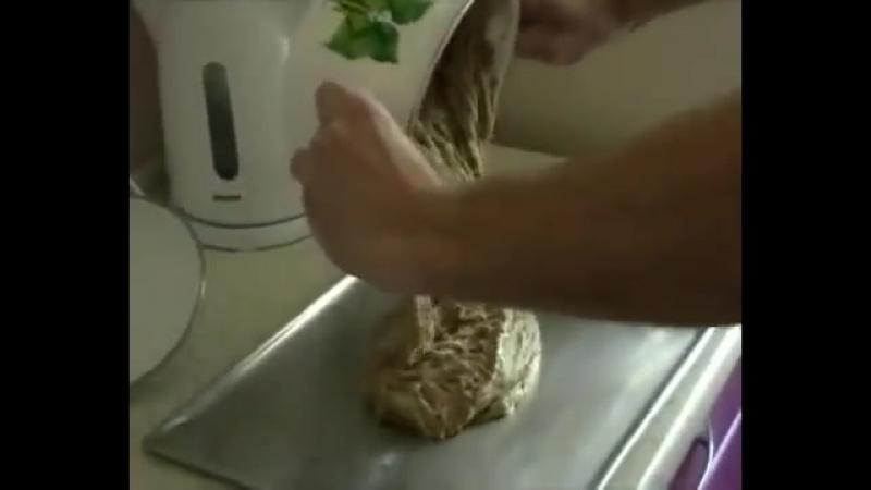 Приготовление сдобного бездрожжевого хлеба без закваски за 5 минут!