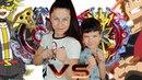 BEYBLADE ЧЕЛЛЕНДЖ! Денис играет с мамой на желания! Игрушки для детей for kids children DenLion TV