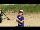 23-06-2018 Угорское озеро. Настя запускает воздушного змея. 2