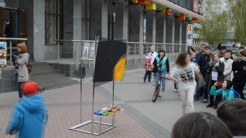 уличная выставка клип (черновая версия)