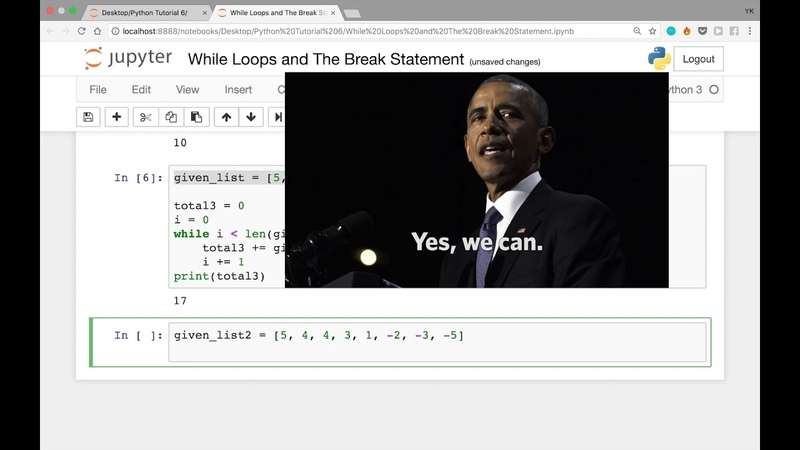 While Loops and The Break Statement in Python (Python Tutorial 6)