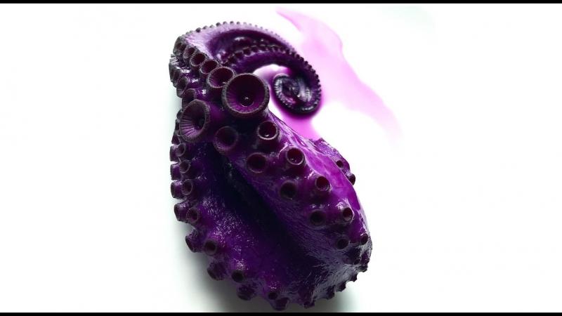 Как сделать фиолетового осьминога Мк с подробным русскоязычным рецептом