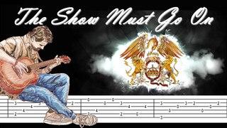 The Show Must Go On - Queen - Arpeggio guitar - Tab - Tuto
