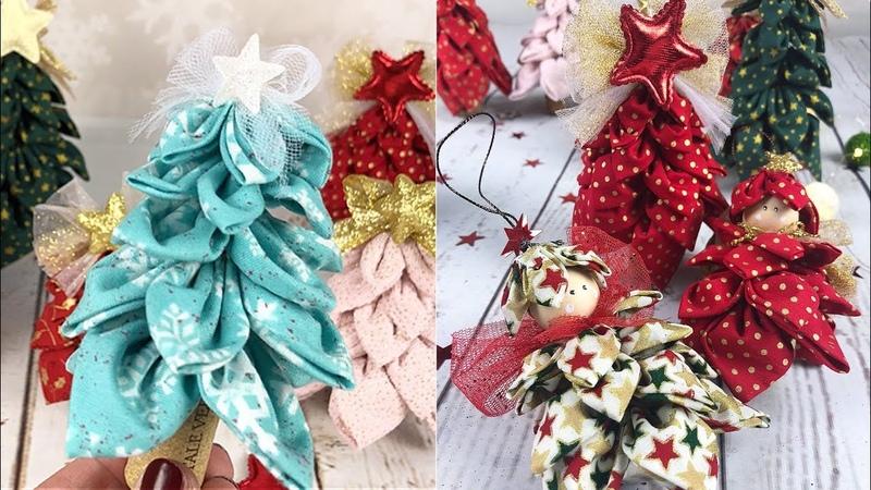 Easy DIY How to make a simple fabric Christmas tree decorations Tutorial facilissimo