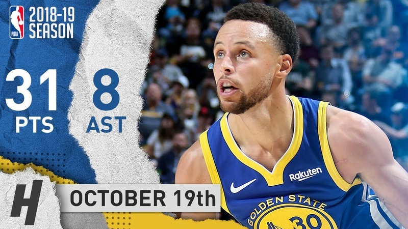 Stephen Curry SICK Highlights Warriors vs Jazz 2018.10.19 - 31 Pts, 8 Assists!