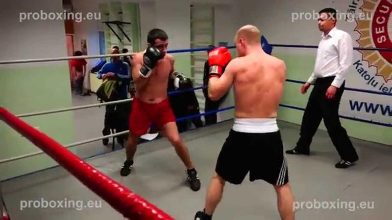 Edgars Milevičs (Latvia) VS Marijus Kravčuk (Lithuania) 15.11.2014 proboxing.eu