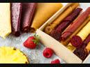 Пастила без сахара яблоко, клубника, виноград и чипсы фруктовые