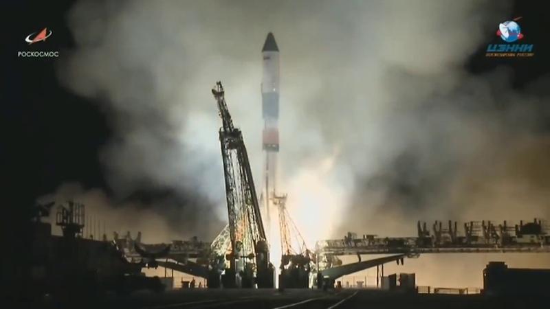 Старт космического корабля Прогресс МС-10. Полное видео