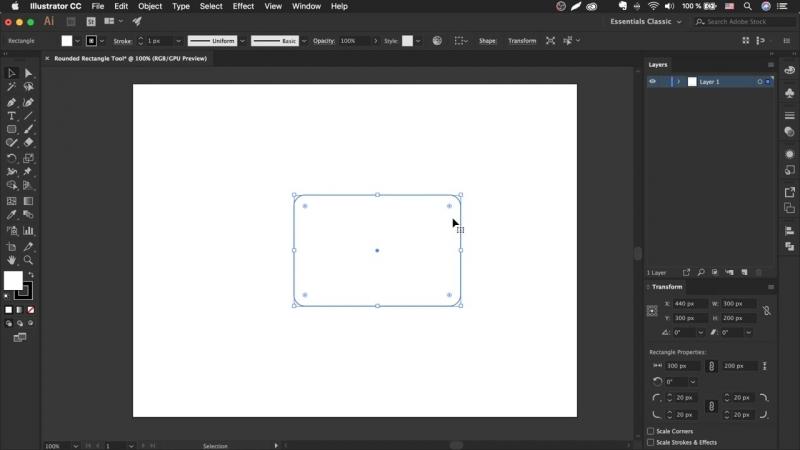 Как сделать прямоугольник со скругленными углами в иллюстраторе _ Урок Adobe Illustrator