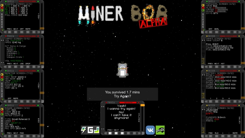 Miner Bob Alpha 2 Demo Gameplay