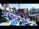 Исполнение Гимна РФ на стадионе Динамо