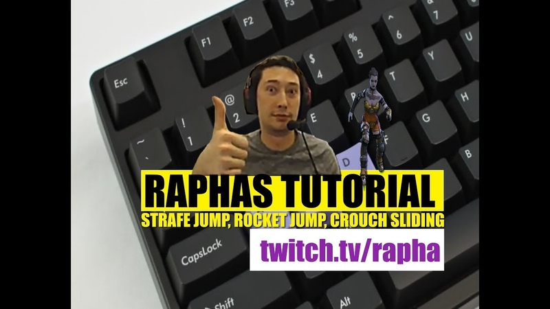 Quake Champions tutorial by Rapha - strafe , rocket jumping and slash crouch sliding