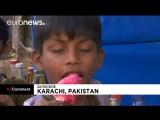 Сильная жара в Карачи ( Пакистан)