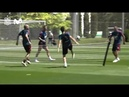 Iniesta, Busquets, Ramos Playing Football Tennis In Spain's World Cup Training | 2018