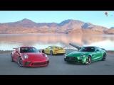 Лоб в лоб 100: Mercedes AMG GT R vs Porsche 911 GT3