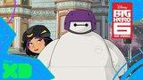 Бэймакс и Гоу Гоу. Смотри «Город Героев: Новая история» на Disney XD!
