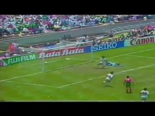 MANUEL NEGRETE WONDER GOAL MEXICO 86