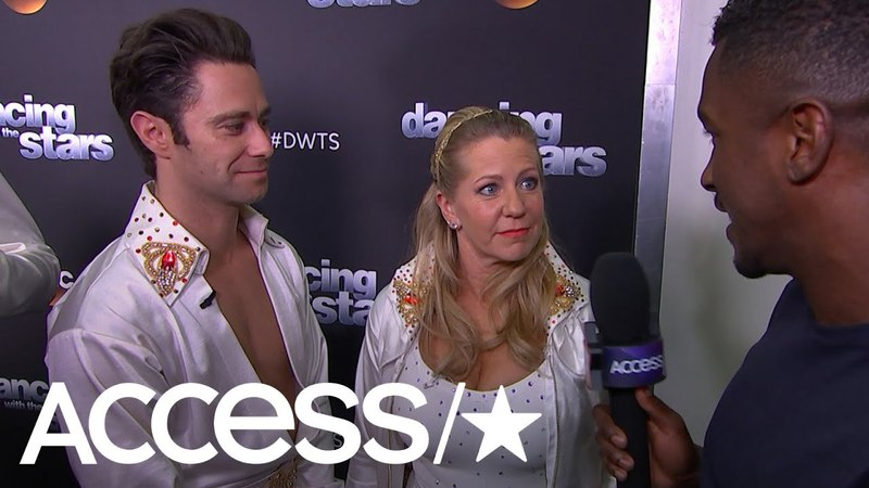 'DWTS': Tonya Harding Sasha Farber React To Making Semi-Finals Having Her Son In The Crowd
