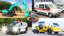 Изучаем транспорт и спецтехнику для детей / Развивающее видео для самых маленьких