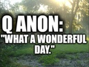 Q ANON What a wonderful day.
