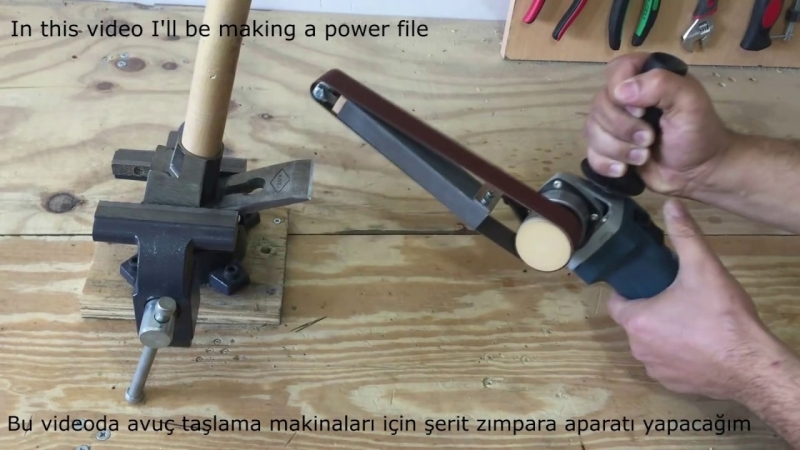 Making a Power File Belt Sander - Angle Grinder Hack