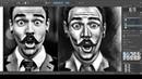 Стрим. Моя KRITA. Рисую портрет удивленного мужчины. Часть 2