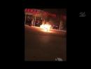 Казанец поджег свой мотоцикл после того как его остановили инспекторы ГИБДД