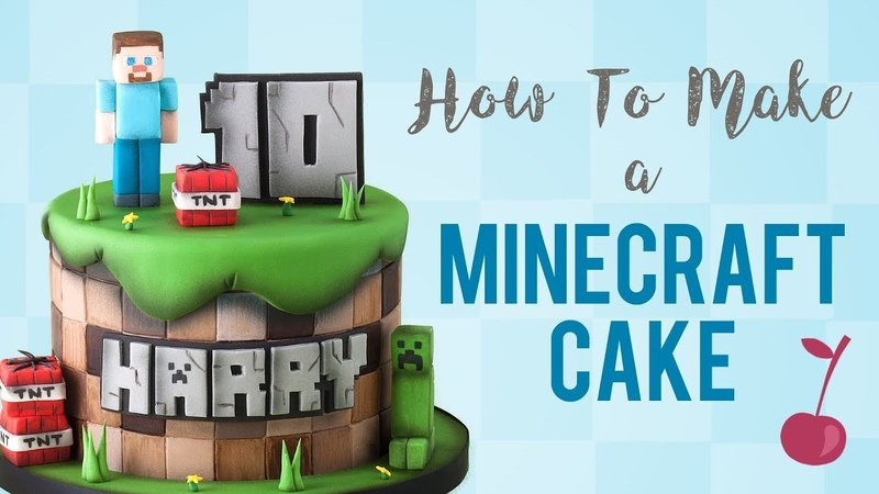 Lakomkavk Minecraft Cake Tutorial How To Cherry School