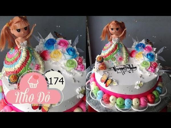 Cách Làm Bánh Kem Công Chúa Búp Bê Đơn Giản Đẹp ( 174 ) Cake Icing Tutorials Buttercream ( 174 )