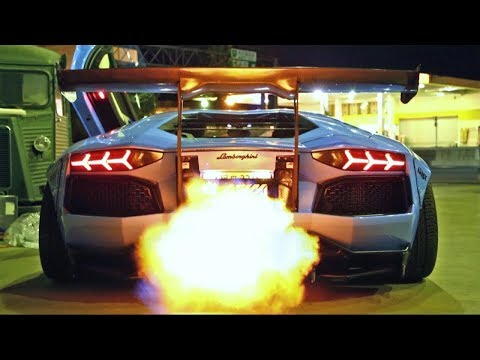 Best Video 2018 The Most Crazy Powerful Exhaust With Fire Lamborghini Aventador HD 1080p