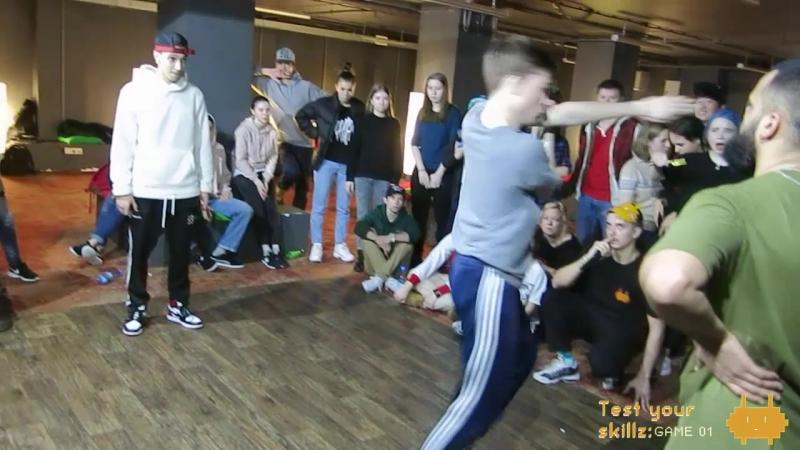 Test Your Skillz: GAME 01 hip-hop 2x2 teacherstudent final RashHubble vs TadjJeka