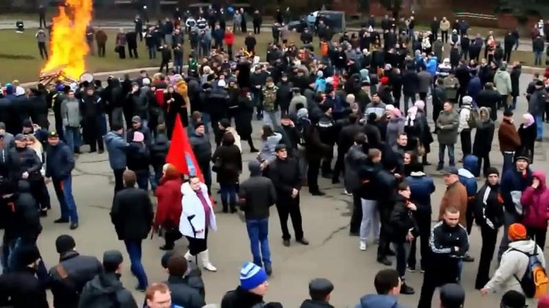 Днепропетровск 2 марта 2014 Антимайдан и Русская Весна Появление Кима
