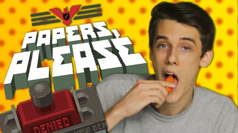 Papers Please Hot Pepper Game Review ft Matt Watson SuperMega